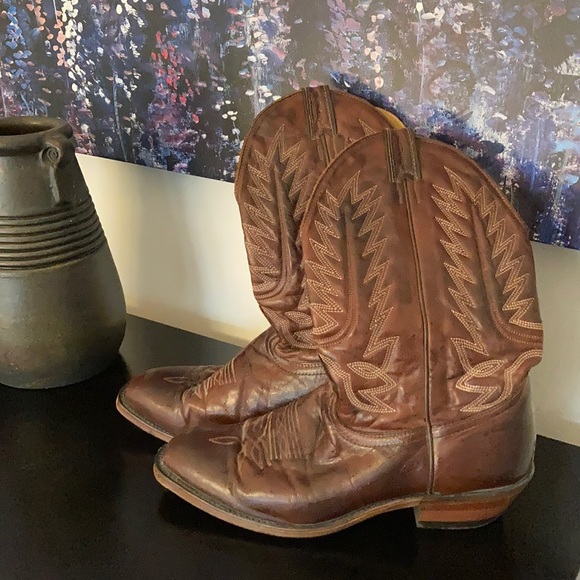 Men's Canadian made leather cowboy boots